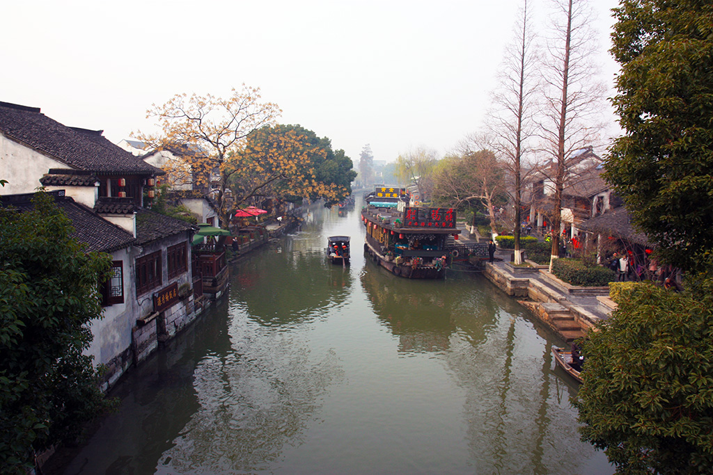 Xitang River with Boats